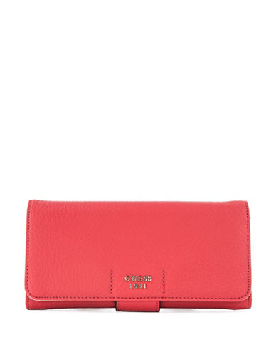 Guess Trudy File Clutch-POPPY-One Size