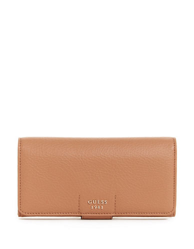 Guess Trudy File Clutch-TAN-One Size