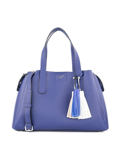 Guess Girlfriend Crossbody Satchel-BLUE-One Size