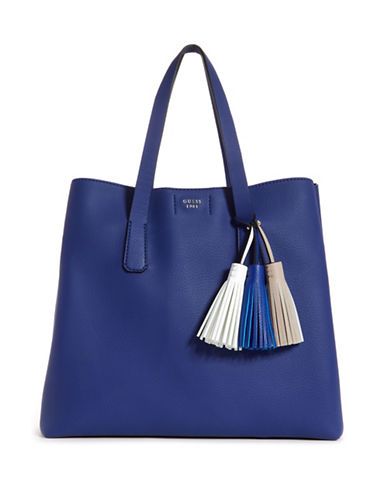 Guess Multicoloured Tassel Tote Bag-BLUE-One Size