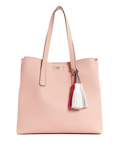 Guess Large Trudy Tassel Tote-ROSE-One Size