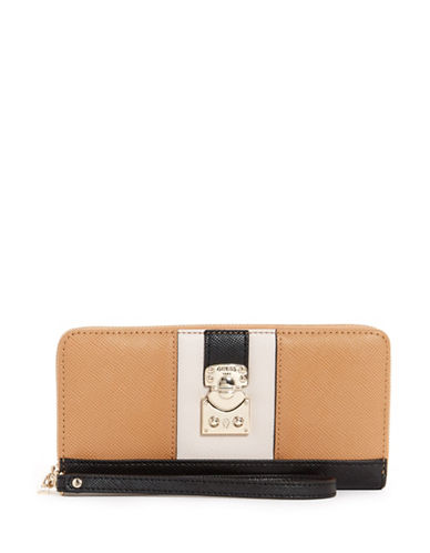 Guess Colourblock Zip-Around Wallet-MULTI-One Size