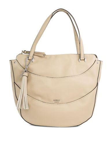 Guess Textured Shoulder Bag-STONE-One Size