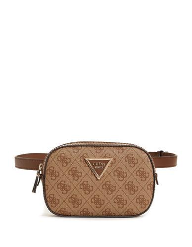 Guess Varsity Pop Belt Bag-BROWN-One Size