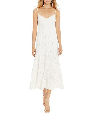 Polo Ralph Lauren Eyelet Boho Maxi Dress-WHITE-2