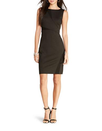 Lauren Ralph Lauren Ponte Mesh Cut-Out Dress-BLACK-8