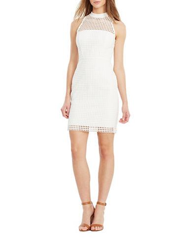 Lauren Ralph Lauren Taylor Crocheted-Lace Sheath Dress-WHITE-16