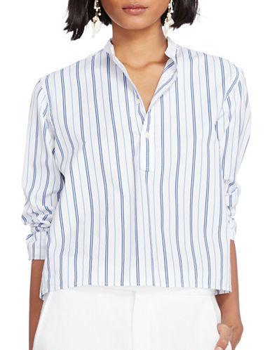 Polo Ralph Lauren Striped Broadcloth Shirt-WHITE MULTI-12