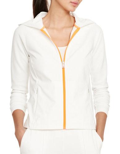 Lauren Ralph Lauren Full-Zip Jersey Hoodie-WHITE-Medium 88254347_WHITE_Medium