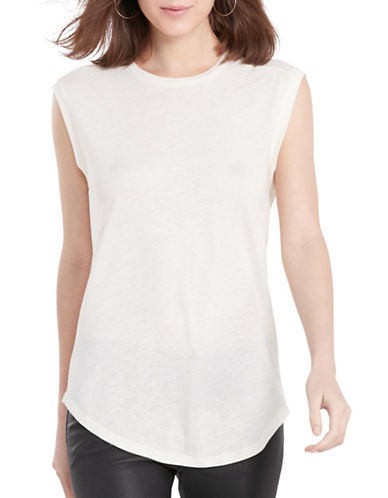 Polo Ralph Lauren Back-Keyhole Sleeveless Tee-WHITE-Small 88431601_WHITE_Small