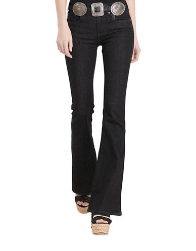Polo Ralph Lauren High-Rise Flared Jeans-BLACK-32