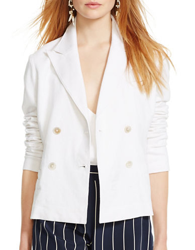 Polo Ralph Lauren Double Breasted Blazer-WHITE-6