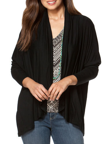 Chaps French Terry Dolman Cardigan-BLACK-X-Large 88533771_BLACK_X-Large