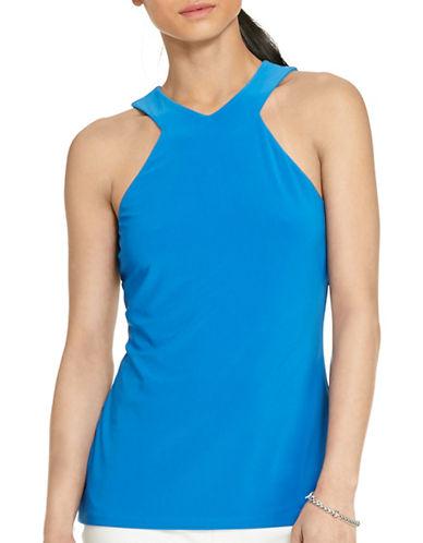 Lauren Ralph Lauren Cutaway Jersey Tank-BLUE-X-Large 88365365_BLUE_X-Large