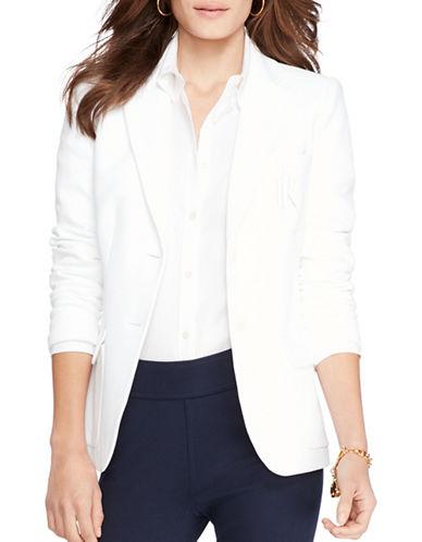Lauren Ralph Lauren Monogrammed Two-Button Jacket-WHITE-Small 88365453_WHITE_Small