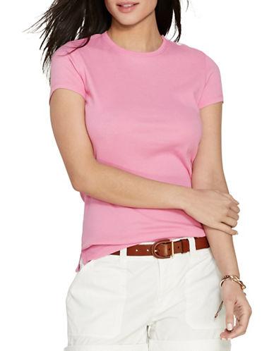 Lauren Ralph Lauren Button-Shoulder Cotton Tee-PINK-Large 88365907_PINK_Large