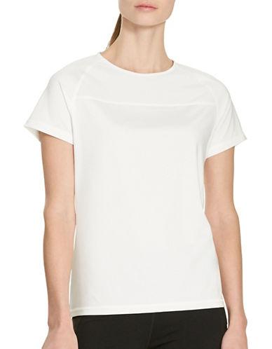 Lauren Ralph Lauren Mesh-Yoke T-Shirt-WHITE-Large 88426361_WHITE_Large