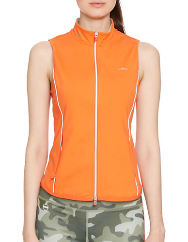 Lauren Ralph Lauren Jersey Full-Zip Vest-ORANGE-Small 88480175_ORANGE_Small