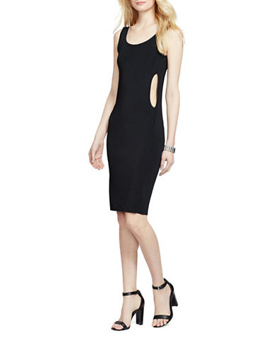 Lauren Ralph Lauren Cutout Sheath Dress-BLACK-X-Small