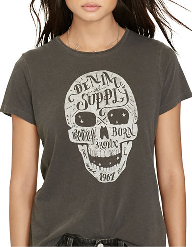 Denim & Supply Ralph Lauren Tomboy T-Shirt-BLACK-X-Small 88607608_BLACK_X-Small