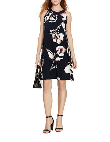 Lauren Ralph Lauren Floral Shift Dress-BLUE-16