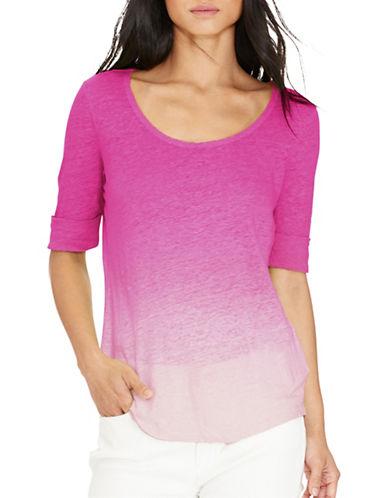 Lauren Ralph Lauren Linen Jersey Tee-PINK-Large 88484519_PINK_Large