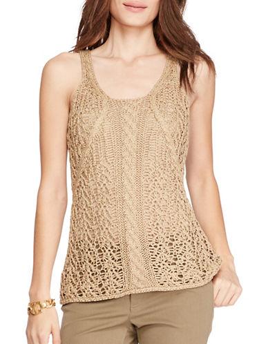 Lauren Ralph Lauren Cable-Knit Sleeveless Sweater-BEIGE-Small 88484600_BEIGE_Small