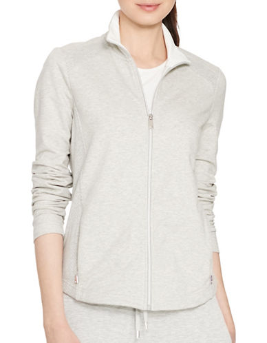 Lauren Ralph Lauren Mesh-Panelled Stretch Jacket-GREY-X-Small 88480182_GREY_X-Small