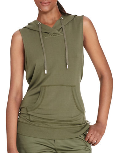 Lauren Ralph Lauren Sleeveless Hoodie-GREEN-Small 88480190_GREEN_Small