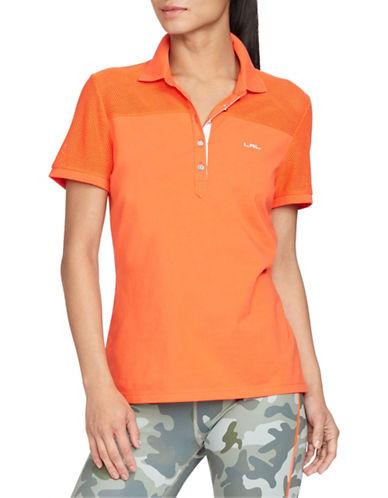 Lauren Ralph Lauren Mesh-Panel Polo Shirt-ORANGE-Medium 88480206_ORANGE_Medium