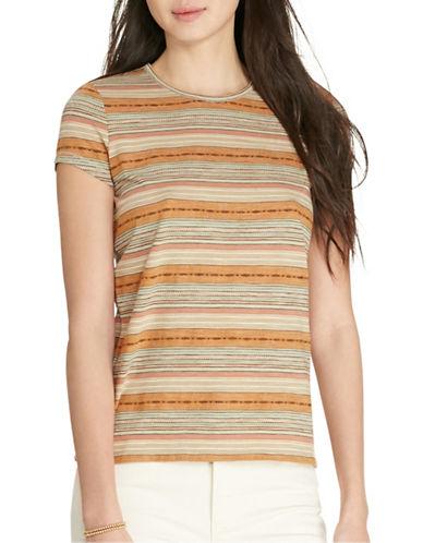 Lauren Ralph Lauren Jacquard-Knit Cotton Tee-BEIGE-X-Large 88479749_BEIGE_X-Large