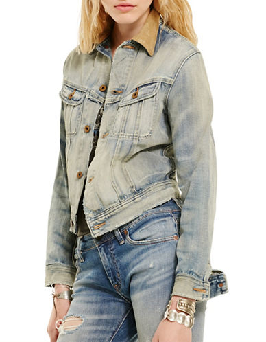 Denim & Supply Ralph Lauren Webster Cropped Jacket-BLUE-X-Large 88599746_BLUE_X-Large