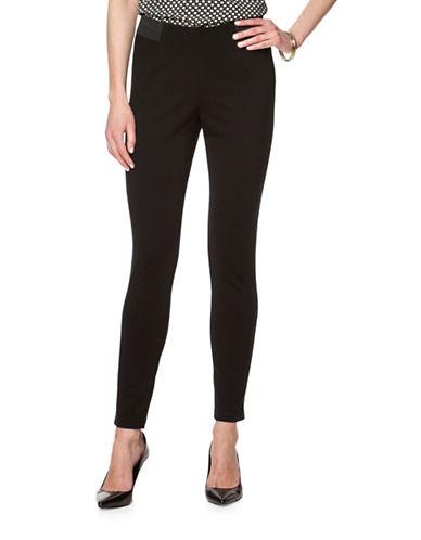 Chaps Skinny Stretch-Ponte Leggings-BLACK-X-Small 88694368_BLACK_X-Small
