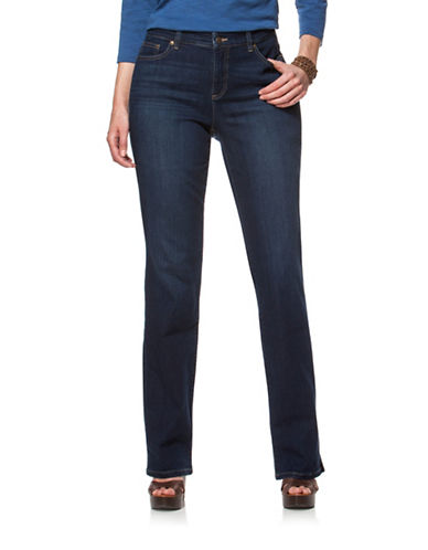 Chaps Plus Bedford-Wash Stretch Straight Jeans-BLUE-18W