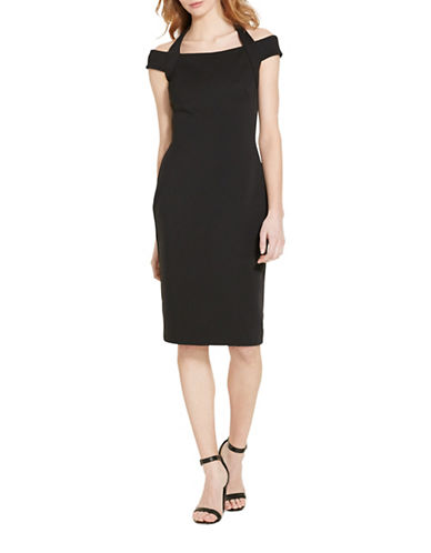 Lauren Ralph Lauren Jersey Halter Dress-BLACK-4