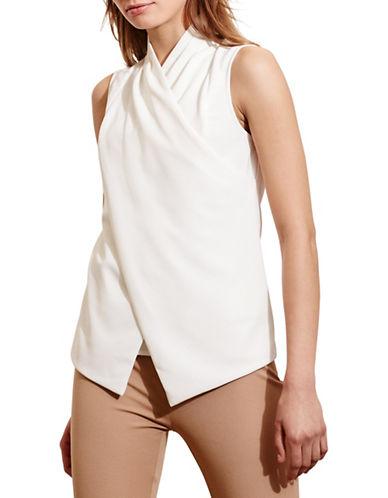 Lauren Ralph Lauren Jersey Surplice Top-WHITE-Small 88571234_WHITE_Small