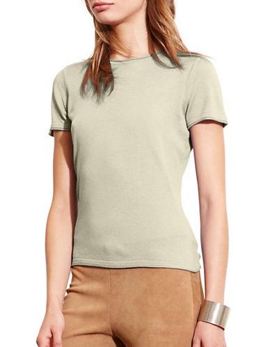 Lauren Ralph Lauren Short-Sleeve Sweater Tee-GREEN-Large 88571369_GREEN_Large