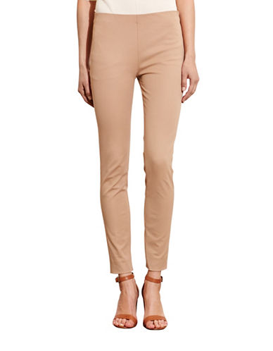 Lauren Ralph Lauren Stretch Cotton Skinny Pants-NATURAL-16 88571433_NATURAL_16