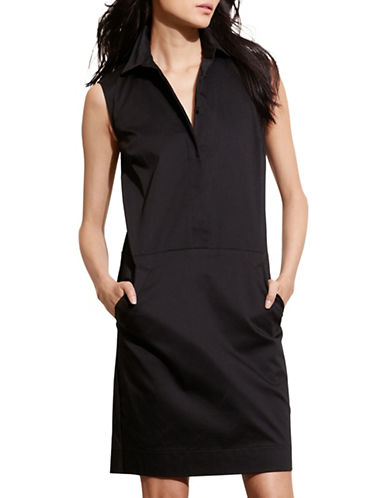 Lauren Ralph Lauren Stretch Cotton Shift Dress-BLACK-6 88571477_BLACK_6