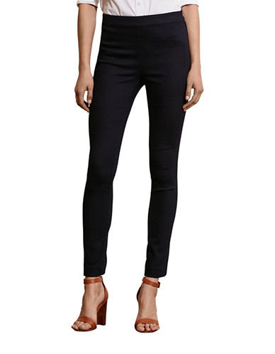 Lauren Ralph Lauren Stretch Cotton Skinny Pants-BLUE-10 88572680_BLUE_10