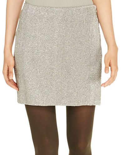 Polo Ralph Lauren Beaded Mini Skirt-GREY-14