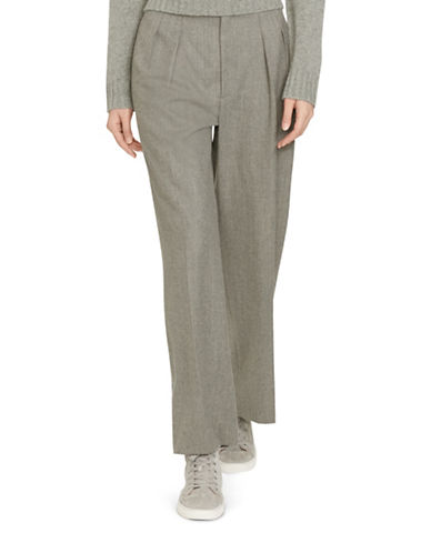 Polo Ralph Lauren Wool Gabardine Wide-Leg Pants-GREY-6 plus size,  plus size fashion plus size appare