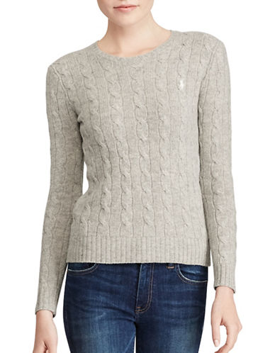 Polo Ralph Lauren Cotton Crewneck Sweater-HEATHER GREY-X-Large