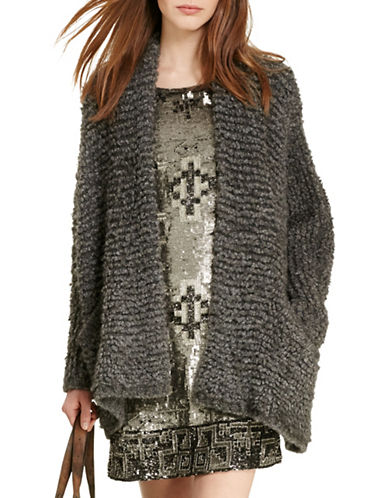 Polo Ralph Lauren Boucle Shawl Cardigan-GREY-Large 88663631_GREY_Large