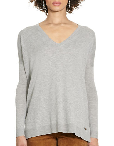 Polo Ralph Lauren Relaxed V-Neck Sweater-FAWN GREY-Large 88663659_FAWN GREY_Large