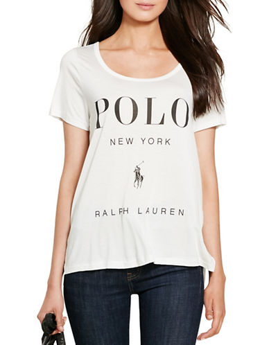 Polo Ralph Lauren Flagship Scoop Neck Tee-WHITE-Small 88721428_WHITE_Small