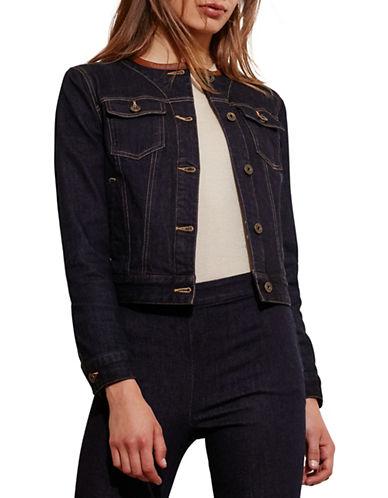 Lauren Ralph Lauren Leather-Trim Denim Jacket-BLUE-Small 88572612_BLUE_Small