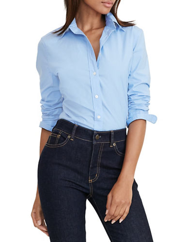 Lauren Ralph Lauren Striped Slim-Fit Shirt-BLUE-Large 88571295_BLUE_Large
