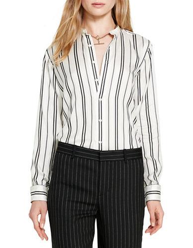 Polo Ralph Lauren Striped Silk Shirt-BLACK/WHITE-10