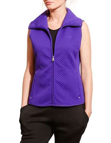 Lauren Ralph Lauren Quilted Jacquard-Knit Vest-PURPLE-Medium 88573277_PURPLE_Medium